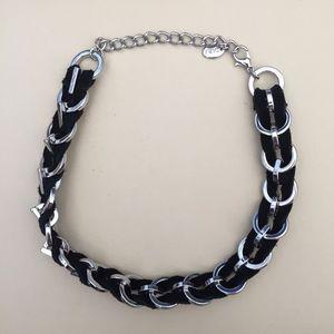 Black and Silver Zara Choker